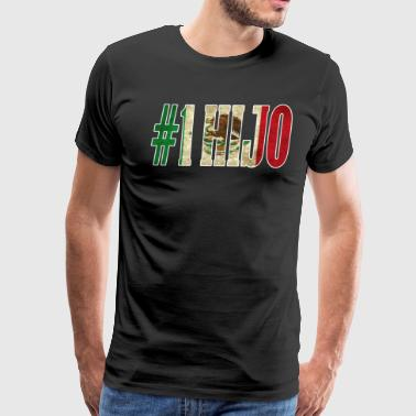 Cool Hijo Gift Mexican Shirt For Mexican Flag Shirt for Mexican Pride Vintage Outline - Men's Premium T-Shirt