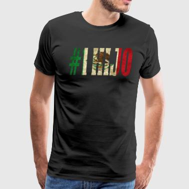 Cool Hijo Gift Mexican Shirt For Mexican Flag Shirt for Mexican Pride Vintage - Men's Premium T-Shirt