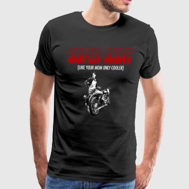 Gift For Cool Aunt Rides Motorcycles - Men's Premium T-Shirt