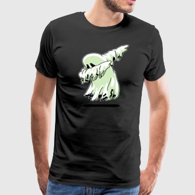 Dabbing Ghost Shirt Funny Halloween Monsters Kids - Men's Premium T-Shirt