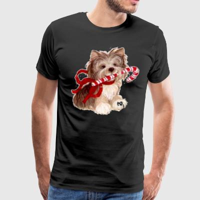 Cute Yorkie Yorkshire Terrier Christmas Shirt - Men's Premium T-Shirt