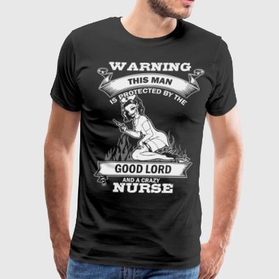 warning this man is protected by the good lord and - Men's Premium T-Shirt