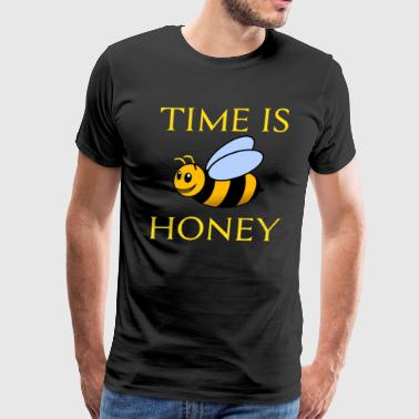 Funny Beekeeping Gift Time is honey - Men's Premium T-Shirt