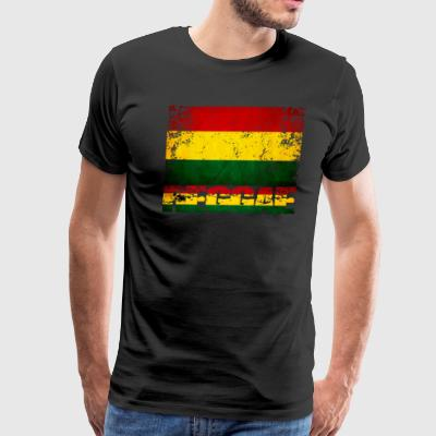 Reggae flag distressed - Men's Premium T-Shirt