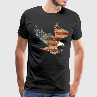 Cool American Drinking Shirt Patriotic Shirt With Eagle - Men's Premium T-Shirt