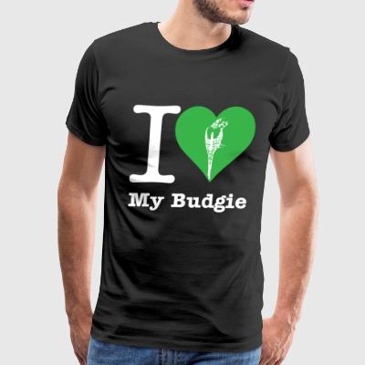 I Love My Budgie - Men's Premium T-Shirt