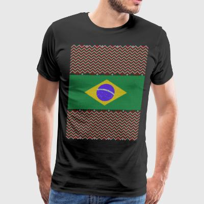 Brazilian Ugly Christmas Sweater - Men's Premium T-Shirt