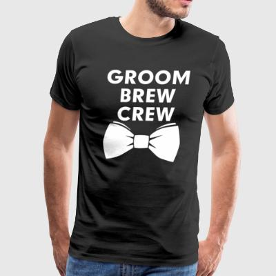 Groom's brew crew - Men's Premium T-Shirt