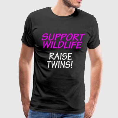 Funny Shirt For Mom of Twins Support Wildlife - Men's Premium T-Shirt