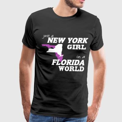 Just a new york girl in a florida world - Men's Premium T-Shirt