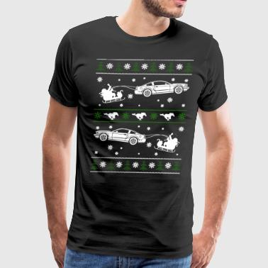 Mustang Christmas Ugly Sweater - Men's Premium T-Shirt