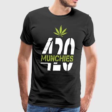 420 Munchies Weed leaf cannabis funny - Men's Premium T-Shirt