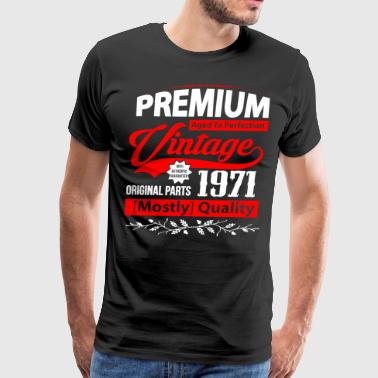 Aged to Perfection 1971 - Gift Idea - T-shirt - Men's Premium T-Shirt