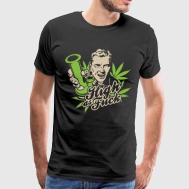 High As Fck Stoner Weed Legalize Marijuana Bong Bl - Men's Premium T-Shirt