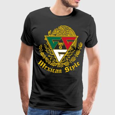 triple G triangle - Men's Premium T-Shirt