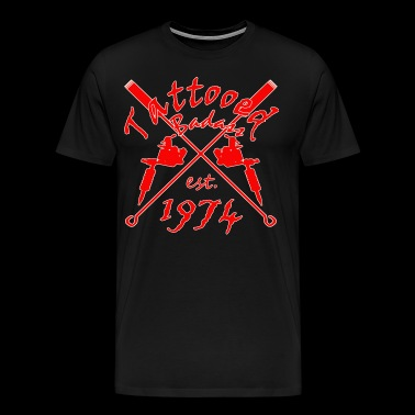 Tattoo Badass year of birth 1974 - Men's Premium T-Shirt