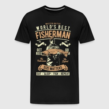 World s Best Fisherman - Men's Premium T-Shirt
