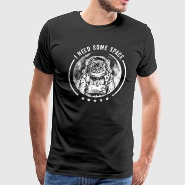 Cat Astronaut Outer Space Kitty Moon Funny Saying - Men's Premium T-Shirt
