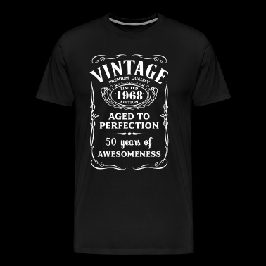 Vintage Limited 1968 Edition 50th Birthday Gift - Men's Premium T-Shirt