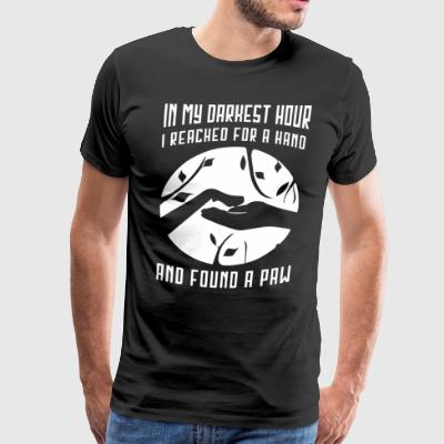 In my darkest hour I reached for a hand - Men's Premium T-Shirt