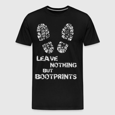 BOOTPRINT CAMPING QUOTES - Men's Premium T-Shirt