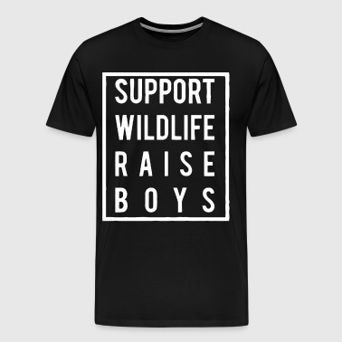 Support wildlife raise boys shirt - Men's Premium T-Shirt
