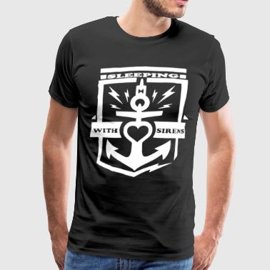 Sleeping With Sirens Anchor Heart Black Graphic An - Men's Premium T-Shirt