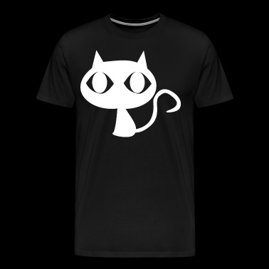 cat vector illustration comic white illustration - Men's Premium T-Shirt
