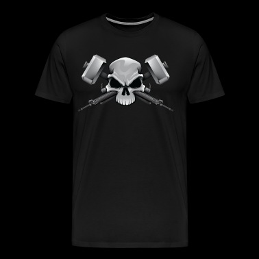 Guns and Hammer skull - Men's Premium T-Shirt