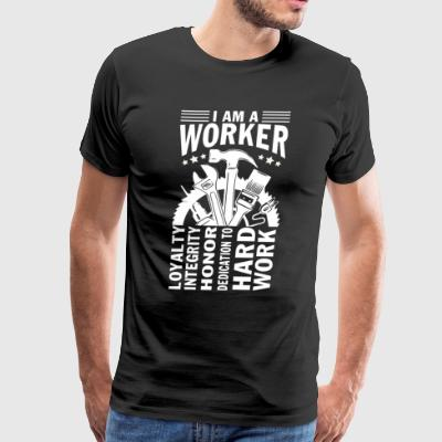 I Am A Worker T Shirt - Men's Premium T-Shirt