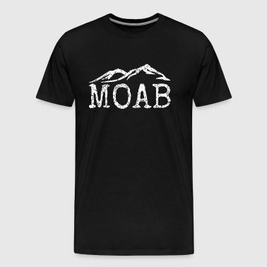 Moab Utah Distressed Trendy Mountain Home - Men's Premium T-Shirt