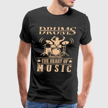 drums the heart of music t shirts - Men's Premium T-Shirt