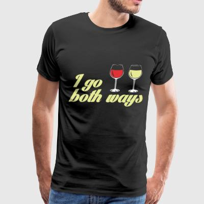 I Go Both Ways - Men's Premium T-Shirt