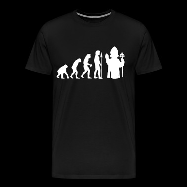 Pope Evolution Mens Funny Atheist Atheism atheist - Men's Premium T-Shirt
