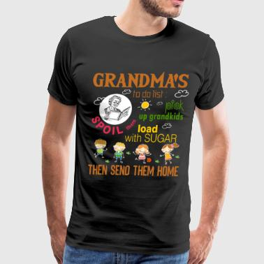 Grandma's To Do List T Shirt - Men's Premium T-Shirt