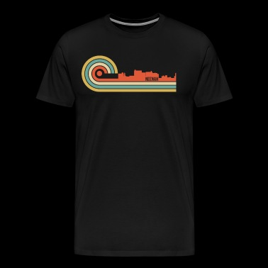 Retro Style Neenah Wisconsin Skyline - Men's Premium T-Shirt