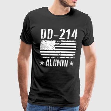 DD-214 Alumni - Armed Forces Patriot USA Flag - Men's Premium T-Shirt