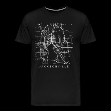 Jacksonville FL Minimalist City Street Map Light Design - Men's Premium T-Shirt