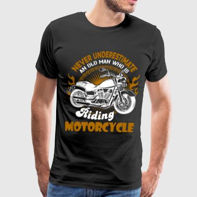 An Old Man Who Is Riding Motorcycle T Shirt - Men's Premium T-Shirt