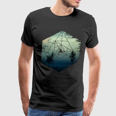 Abstract Dark - Birds, Skies, Trees, Apocalypse - Men's Premium T-Shirt