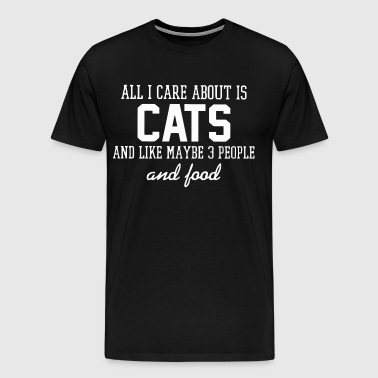 All i care about is Cats - Men's Premium T-Shirt