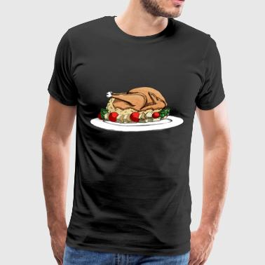 Thanksgiving Turkey / Christmas Turkey - Men's Premium T-Shirt