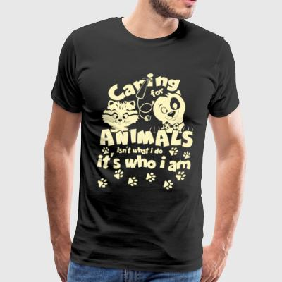 Caring For Animals T Shirt - Men's Premium T-Shirt