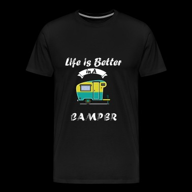 Happy Life in Camper - camping - Men's Premium T-Shirt