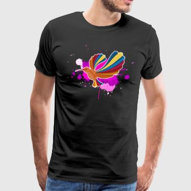 Colorful Hummingbirds Shirt - Men's Premium T-Shirt