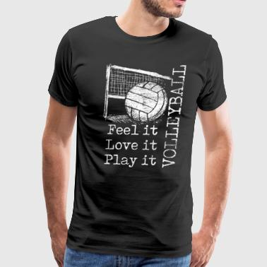 feel it love it play it volleyball - Men's Premium T-Shirt