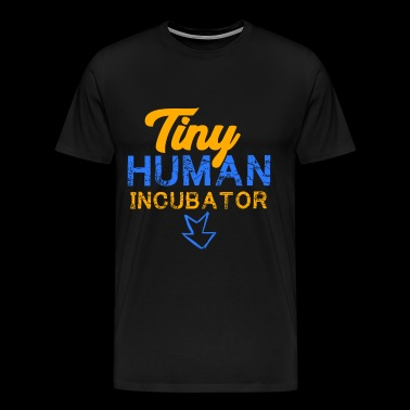 Tiny Human Incubator, Cute Pregnancy, Pregnancy Reveal - Men's Premium T-Shirt