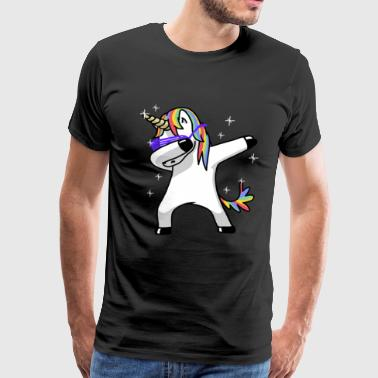 Dabbing Unicorn Funny Magic - Men's Premium T-Shirt