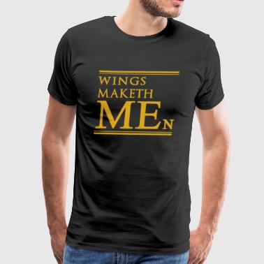 WINGS MAKETH MEN - Men's Premium T-Shirt