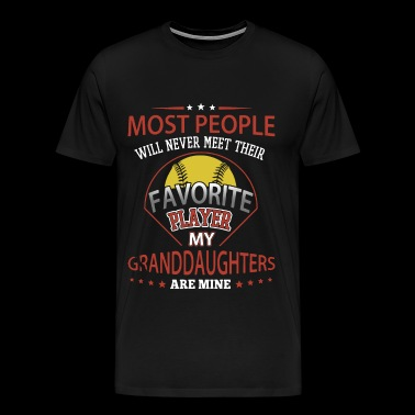 most people will never meet their baseball - Men's Premium T-Shirt